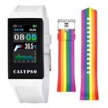 Calypso Fitness Tracker Smartime K8500-1 Smartwatch weiß, hellblau TCK8500-1
