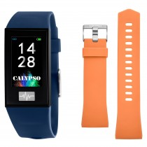 Calypso Fitness Tracker Smartime K8500-5 Smartwatch blau, orange TCK8500-5
