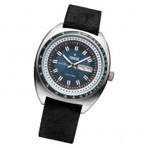 Fonderia Herren-Armbanduhr P-6A004UB2 Quarz Leder-Armband schwarz UAP6A004UB2