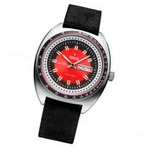 Fonderia Herren-Armbanduhr P-6A004UR1 Quarz Leder-Armband schwarz UAP6A004UR1