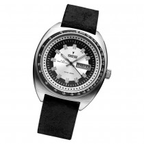 Fonderia Herren-Armbanduhr P-6A004US1 Quarz Leder-Armband schwarz UAP6A004US1