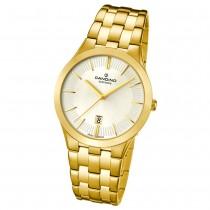 Candino Herren-Armbanduhr Timeless analog Quarz Edelstahl Gelbgold PVD UC4541/1