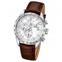 FESTINA Herren-Armbanduhr Sport Chronograph analog Quarz Leder UF16760/1