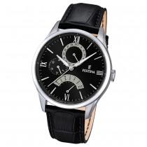 FESTINA Herren-Armbanduhr Retrograde Quarz Leder schwarz UF16823/2