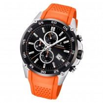 Festina Herren Armbanduhr The Originals F20330/4 Quarz PU orange UF20330/4