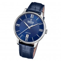 Festina Herren Armbanduhr Elegant F20484/3 Automatik Leder blau UF20484/3