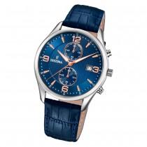 Festina Herren Armbanduhr Retro F6855/6 Quarz Leder blau UF6855/6