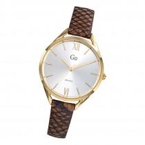 Girl Only Damen Armbanduhr GO 699274 Analog Quarz Uhr Leder braun UGO699274