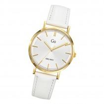 Girl Only Damen Armbanduhr GO 699294 Analog Quarz Uhr Leder weiß UGO699294