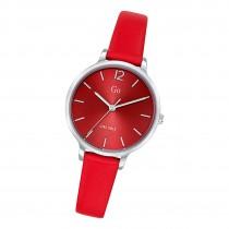 Girl Only Damen Armbanduhr GO 699942 Analog Quarz Uhr Leder rot UGO699942