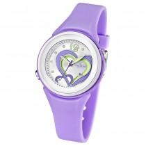 CALYPSO Damen-Armbanduhr Fashion analog Quarz-Uhr PU flieder UK5576/4