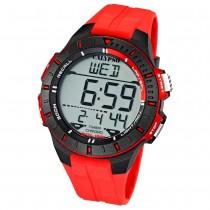 CALYPSO Herren-Armbanduhr Sport Chronograph Quarz-Uhr PU rot UK5607/5