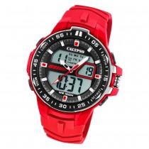 Calypso Herren Armbanduhr Street Style K5766/2 Quarz-Uhr PU rot UK5766/2