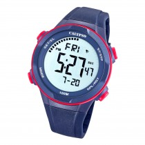Calypso Herren Jugend Armbanduhr Casual K5780/4 Digital Kunststoff blau UK5780/4