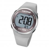 Calypso Herren Jugend Armbanduhr K5786/1 Digital Kunststoff grau UK5786/1