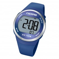 Calypso Herren Jugend Armbanduhr K5786/3 Digital Kunststoff blau UK5786/3