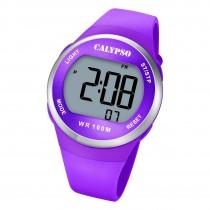 Calypso Damen Jugend Armbanduhr Outdoor K5786/6 Digital Kunststoff lila UK5786/6