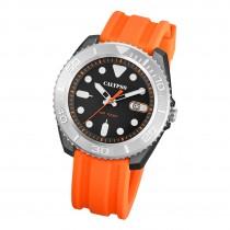 Calypso Herren Armbanduhr Outdoor K5794/1 Analog Kunststoff orange UK5794/1