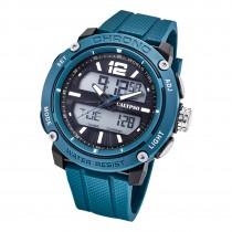Calypso Herren Armbanduhr K5796/2 Analog-Digital Kunststoff blau UK5796/2