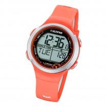 Calypso Damen Herren Armbanduhr K5799/2 Digital Kunststoff orange UK5799/2