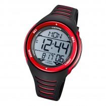 Calypso Herren Armbanduhr K5807/3 Digital Kunststoff schwarz rot UK5807/3