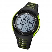 Calypso Herren Armbanduhr K5807/5 Digital Kunststoff schwarz hellgrün UK5807/5