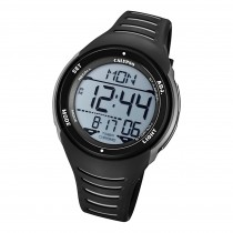 Calypso Herren Armbanduhr K5807/6 Digital Kunststoff schwarz grau UK5807/6