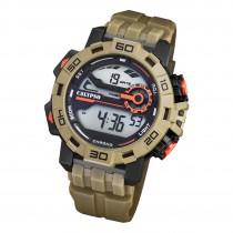 Calypso Herren Armbanduhr Outdoor K5809/3 Digital Kunststoff grünbraun UK5809/3