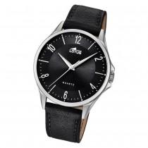 Lotus Herren-Armbanduhr Leder schwarz 18518/4 Quarz klassisch UL18518/4