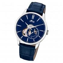 Lotus Herren-Armbanduhr Leder blau 18536/3 Automatik Classic UL18536/3