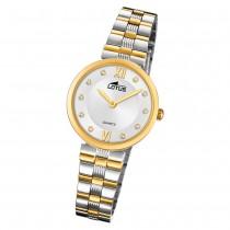 LOTUS Damen Armbanduhr Bliss 18542/3 Quarz Edelstahl silber gold UL18542/3