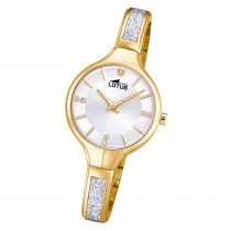 LOTUS Damen Armbanduhr Bliss 18595/1 Quarz Edelstahl gold silber UL18595/1