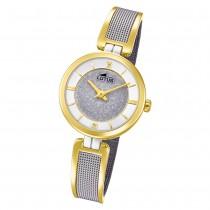 LOTUS Damen Armbanduhr Bliss 18603/1 Quarz Edelstahl silber gold UL18603/1