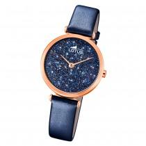 LOTUS Damen Armbanduhr Swarovski Elements 18608/2 Leder blau UL18608/2