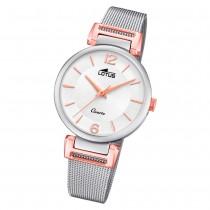 LOTUS Damen Armbanduhr Bliss 18647/2 Quarz Edelstahl silber UL18647/2