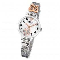 LOTUS Jugend Armbanduhr Junior 18659/2 Quarz Edelstahl silber UL18659/2