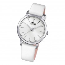 Lotus Damen Armbanduhr Trendy 18738/1 Analog Leder weiß UL18738/1