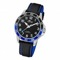 Lotus Jugend Armbanduhr Junior 18787/2 Analog Leder schwarz blau UL18787/2