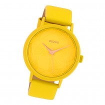 Oozoo Damen Armbanduhr Timepieces C10395 Quarzwerk Leder gelb UOC10395