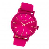 Oozoo Damen Armbanduhr Timepieces C10448 Quarz Leder fuchsia UOC10448