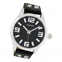 Oozoo Damen Armbanduhr Timepieces C1054 Analog Leder schwarz UOC1054A