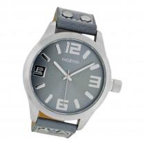 Oozoo Damen Armbanduhr Timepieces C1060 Analog Leder grau UOC1060A