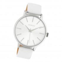Oozoo Damen Armbanduhr Timepieces C10610 Analog Leder weiß UOC10610
