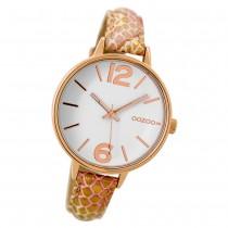 Oozoo Damen Armbanduhr Timepieces C9481 38mm Quarz Leder pink gold UOC9481
