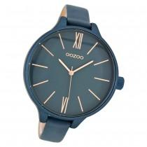 Oozoo Damen Armbanduhr Timepieces C9544 45mm Quarz Leder azurblau UOC9544
