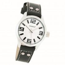 Oozoo Kinder Jugend Armbanduhr JR158 Quarzwerk Leder schwarz UOJR158
