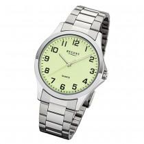 Regent Herren Armbanduhr Analog 1152405 Quarz-Uhr Metall silber UR1152405