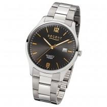 Regent Herren-Armbanduhr 32-1153401 Quarz-Uhr Edelstahl-Armband silber UR1153401