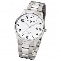 Regent Herren-Armbanduhr F-1178 Quarz-Uhr Edelstahl-Armband silber UR1153403