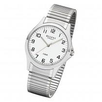 Regent Herren Armbanduhr Analog 1242413 Quarz-Uhr Metall silber UR1242413